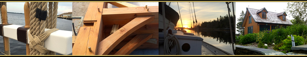 Timber frame, Marine rigging and boatbuilding