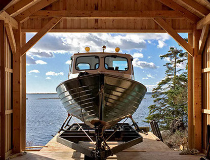 Nova Scotia Boathouse and wooden boatbuilder